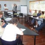 2008.11.08 - REG. CENTRO B. Asistentes a la reunión y la Secretaria de Cultura e Intendente. Gálvez.