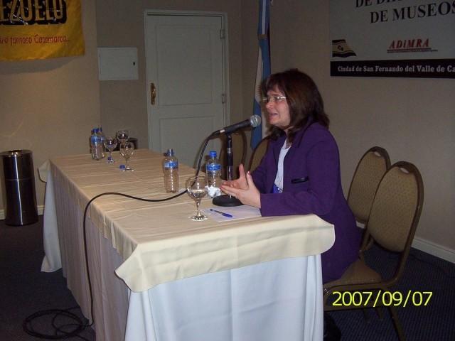 2007-09-07. XXXI ENCUENTRO DE ADIMRA. CATAMARCA. Disertación Lic. Olga Nazor.