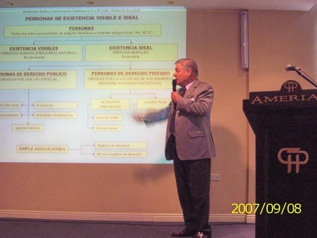 2007-09-07. XXXI ENCUENTRO DE ADIMRA. CATAMARCA. Disertación Dr. Esteban M. De Lorenzi.
