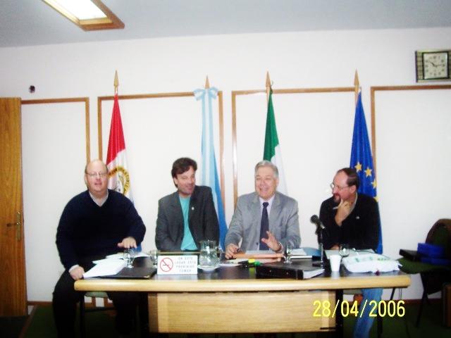 2007-04-28. ASAMBLEA EL TREBOL. Zaeta, Almada, De Lorenzi y Giovannini.