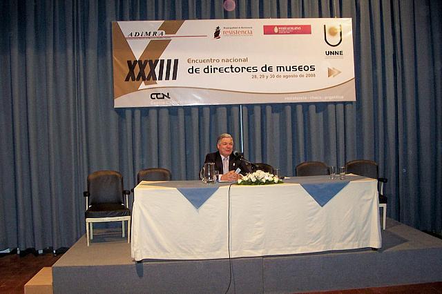 """2008-08-28 - XXXIII ENCUENTRO ADIMRA.  Disertación Esteban De Lorenzi:  """"Ley de Museos de la Provincia de Santa Fe"""". Resistencia."""