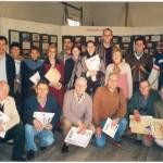 2003-08-16. CONSEJO DIRECTIVO. RECONQUISTA. Visita de los consejeros a la muestra fotográfica sobre La Forestal.