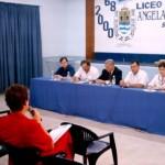 2005-03-19. CONSEJO DIRECTIVO. SAN CRISTOBAL. G. Traversi, Sergio Capovilla, Esteban De Lorenzi, Edgardo Martino (Intendente de San Cristóbal), Olga Nazor y Eva G. de Rosenthal.