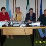 2005-04-30. ASAMBLEA. EL TREBOL. E. de Rosenthal, E. De Lorenzi, J. Rayón y H. Giovannini.