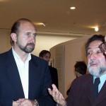 2005-07-01. MUSEO BELLAS ARTES. RAFAELA. Omar Perotti (Intendente de Rafaela), Américo Castilla Castilla (Director M. y P. de la Sec. de Cultura de la Nac.) y Esteban M. De Lorenzi