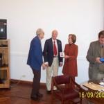 2006-09-16. CONSEJO DIRECTIVO. ESPERANZA. Aurelio Genovese, Darío Astegiano, Ana María Cecchini y Rodrigo Müller. Entrega Marcha de los Museos