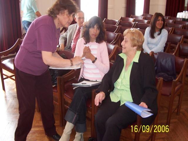 2006-09-16. CONSEJO DIRECTIVO. ESPERANZA. Elena Serdarevich, Dante Bosio, Marta Berón, Yolanda de Galliano y Julia Gramajo.