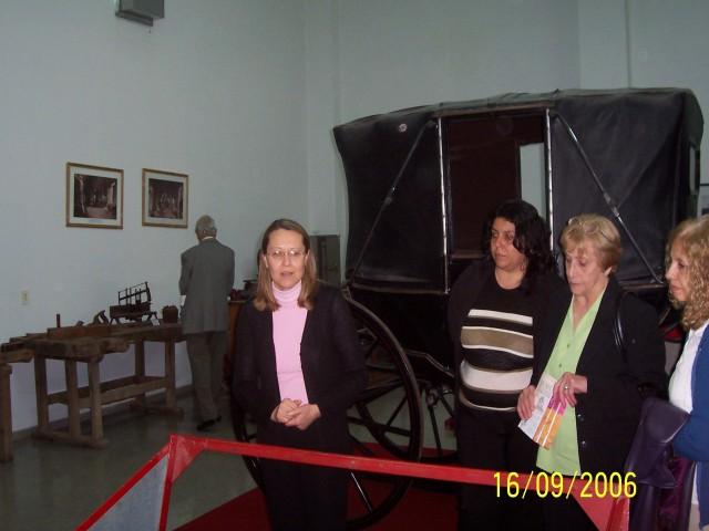 2006-09-16. MUSEO DE LA COLONIZACION. ESPERANZA. Visita Museo. Norberto Ponisio, Graciela Russi, Viviana Gorosito, Yolanda de Galliano e Irma Irrazabal