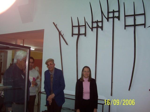 2006-09-16. MUSEO DE LA COLONIZACION. ESPERANZA. Visita Museo. Real, Gerardo Fabricius, Aurelio Genovese y Graciela Russi